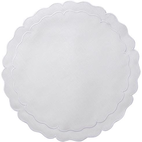 Skyros Designs  Linho Scalloped Round Placemats White - Set of 4 $108.00