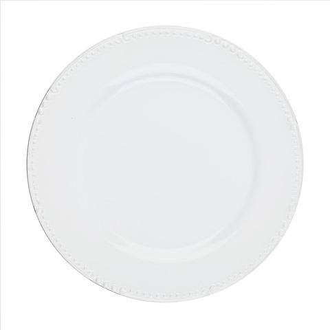 Skyros Designs  Isabella - Pure White Charger Plate $62.00