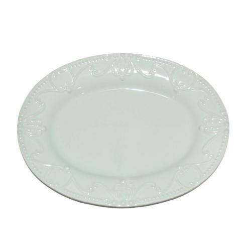 Skyros Designs  Isabella - Ice Blue Oval Platter $114.00