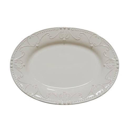 Skyros Designs  Isabella - Ivory Oval Platter $114.00