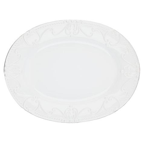 Skyros Designs  Isabella - Pure White Oval Platter $114.00