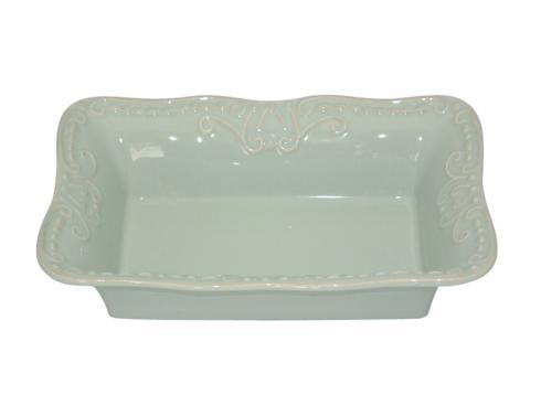 Skyros Designs  Isabella - Ice Blue Sm. Rect. Baker $66.00