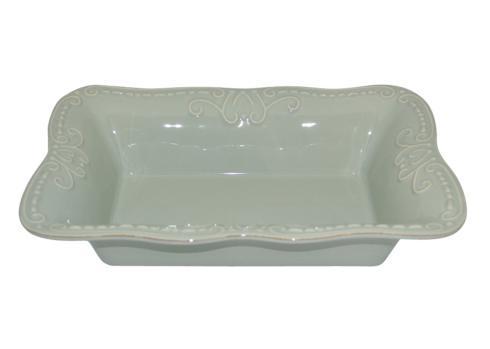 Skyros Designs  Isabella - Ice Blue Med. Rect. Baker $77.00