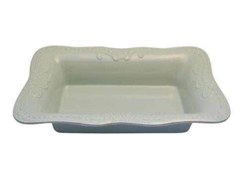 Skyros Designs  Isabella - Ice Blue Lg. Rect. Baker $90.00
