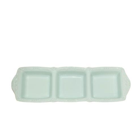Skyros Designs  Isabella - Ice Blue Three Part Divided Tray $53.00