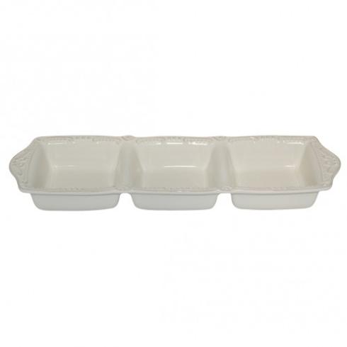 Skyros Designs  Isabella - Ivory Three Part Divided Tray $53.00