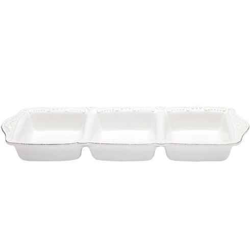 Skyros Designs  Isabella - Pure White Three Part Divided Tray $53.00