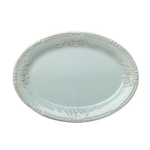 Skyros Designs  Isabella - Ice Blue Small Oval Platter $55.00