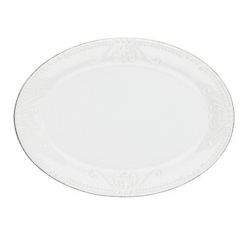 Skyros Designs  Isabella - Pure White Small Oval Platter $55.00