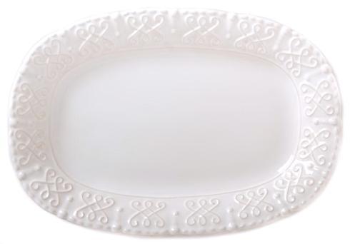 Skyros Designs  Historia - Paper White Small Oval Platter $55.00