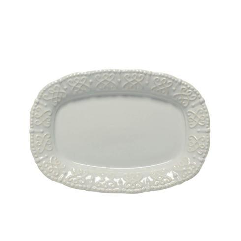 Skyros Designs  Historia - Barely Blue Small Oval Platter $55.00