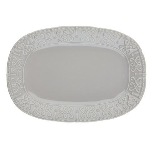 Skyros Designs  Historia - Greystone Small Oval Platter $55.00