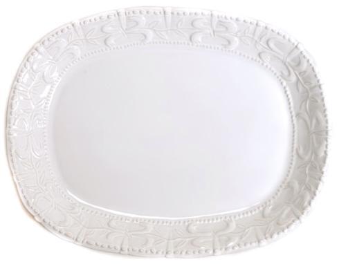 Skyros Designs  Historia - Paper White Large Oval Platter $105.00