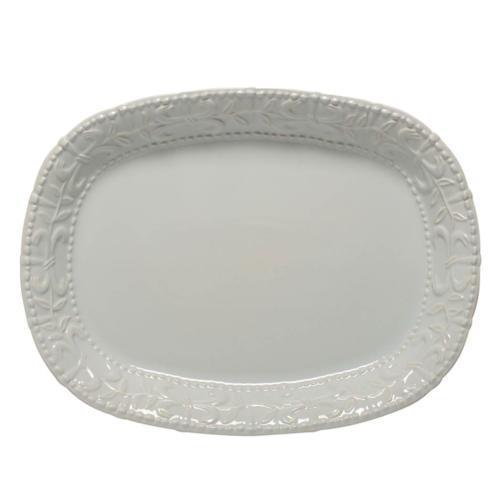 Skyros Designs  Historia - Barely Blue Large Oval Platter $105.00
