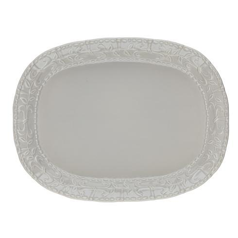 Skyros Designs  Historia - Greystone Large Oval Platter $105.00
