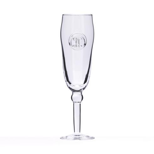 $36.00 Champagne Flute -Hand Stamped Initial