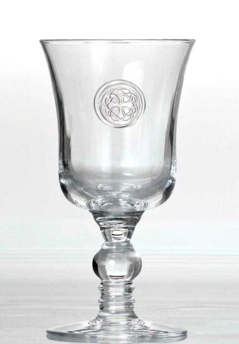 $36.00 Footed Goblet - Hand Stamped Medallion