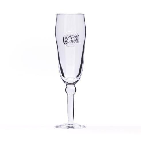 $36.00 Champagne Flute - Hand Stamped Medallion