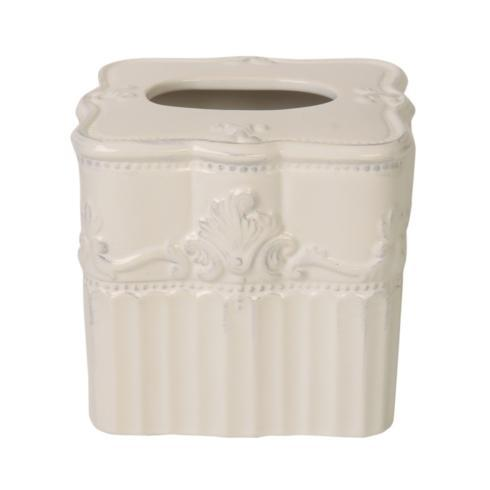 Skyros Designs  Ana Bath - White Tissue Box $55.00