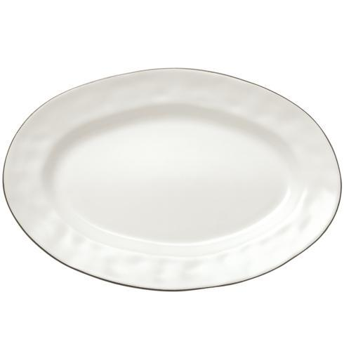 Skyros Designs  Cantaria - Matte White Small Oval Platter $48.00
