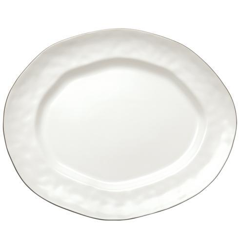 Skyros Designs  Cantaria - Matte White Large Oval Platter $79.00
