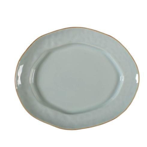 Skyros Designs  Cantaria - Sheer Blue Large Oval Platter $79.00