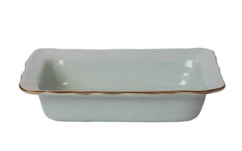 Skyros Designs  Cantaria - Sheer Blue Medium Rectangular Baker $73.00