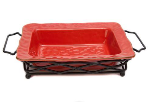 Skyros Designs  Cantaria - Poppy Red Large Rectangular Baker $95.00