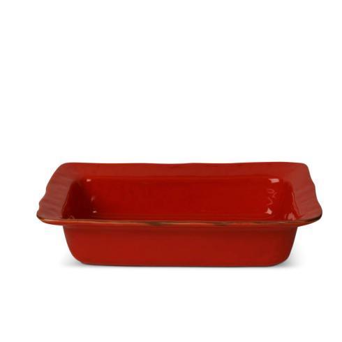 Skyros Designs  Cantaria - Poppy Red Large Rectangular Baker $95.00