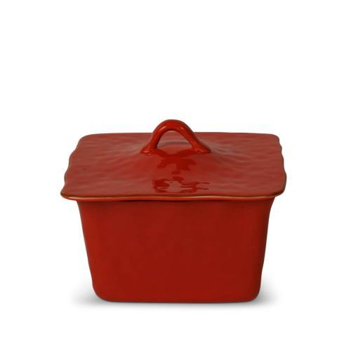 Skyros Designs  Cantaria - Poppy Red Square Covered Casserole $132.00