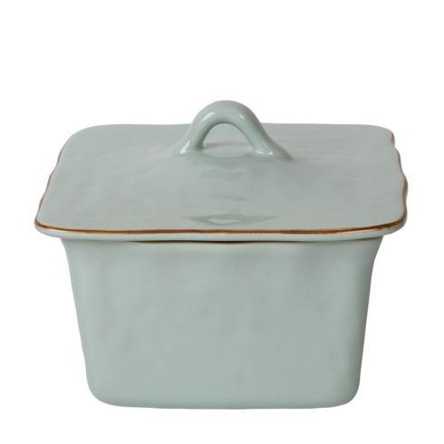 Skyros Designs  Cantaria - Sheer Blue Square Covered Casserole $132.00