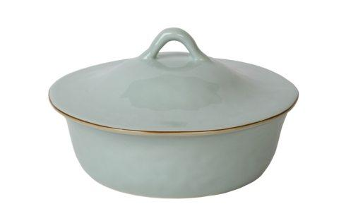 Skyros Designs  Cantaria - Sheer Blue Round Covered Casserole $132.00