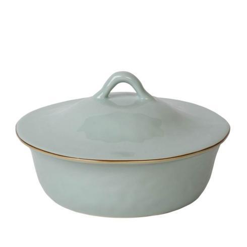 Skyros Designs  Cantaria - Sheer Blue Round Covered Casserole $132.00