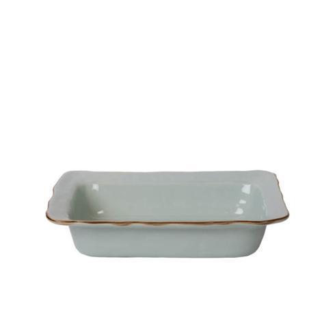 Skyros Designs  Cantaria - Sheer Blue Small Rectangular Baker $60.00