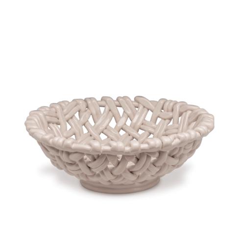 $198.00 Round Basket Ivory