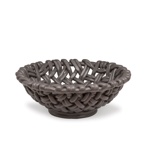 $198.00 Round Basket Charcoal