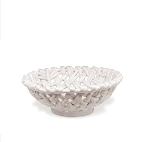 $198.00 Round Basket White