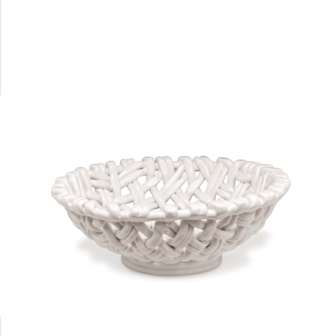 $198.00 Round Basket White