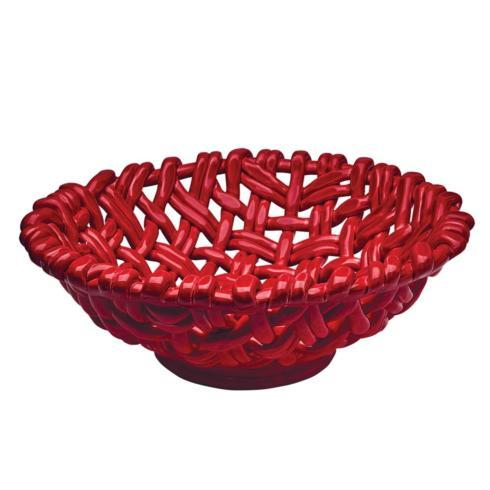 $198.00 Round Basket Red