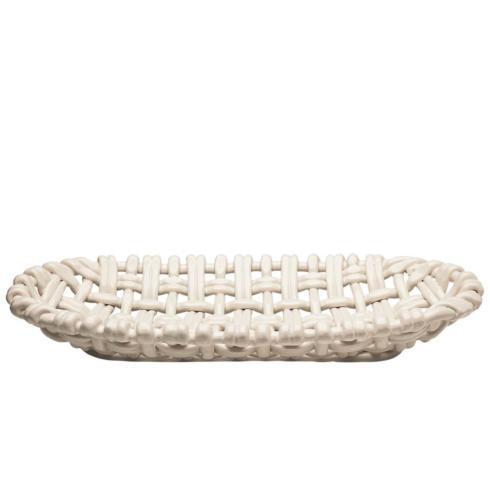 $220.00 Oval Basket Ivory