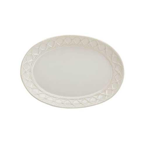 Skyros Designs  Alegria - Natural Linen Small Oval Platter $55.00