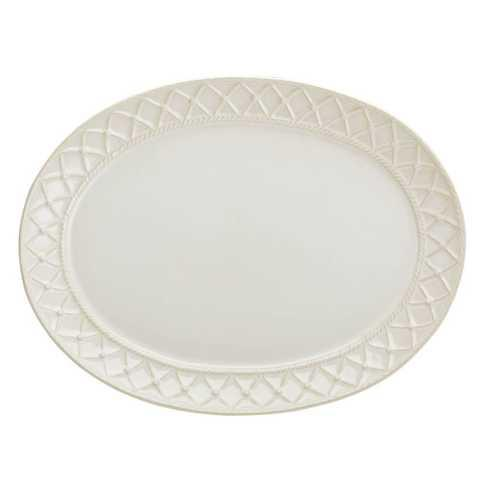 Skyros Designs  Alegria - Natural Linen Large Oval Platter $83.00