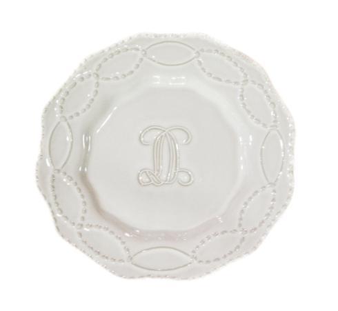 Salad Plate - Engraved D