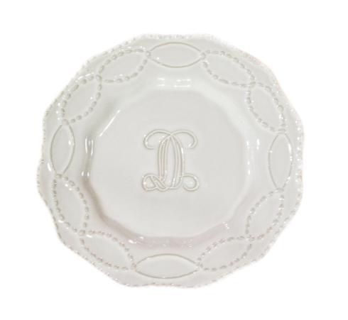 Salad Plate - Engraved J