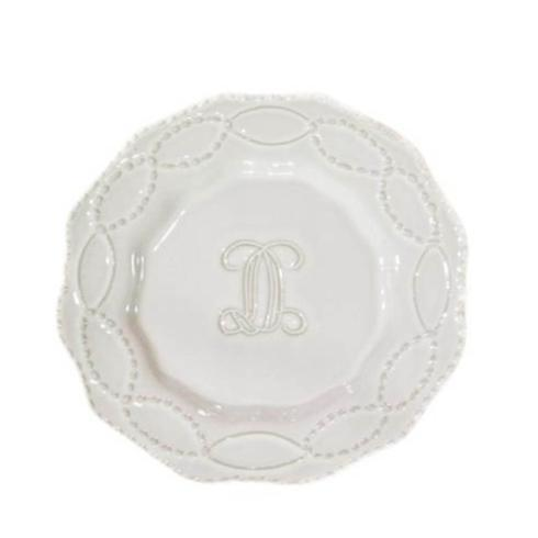 Skyros Designs  Legado White Engraved Salad Plate $38.00