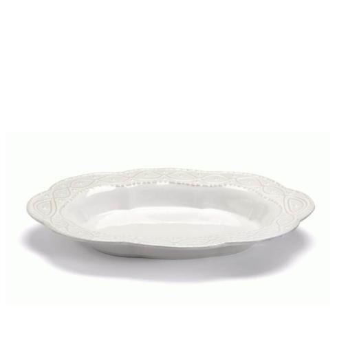 Skyros Designs  Legado White Large Oval Serving Bowl $88.00