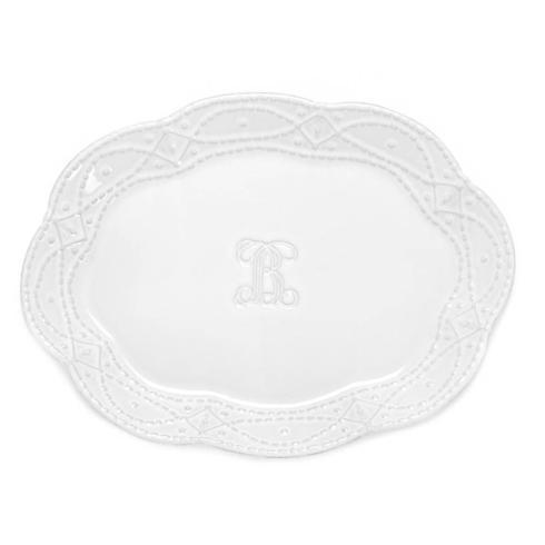 Skyros Designs  Legado White Engraved Platter $117.00