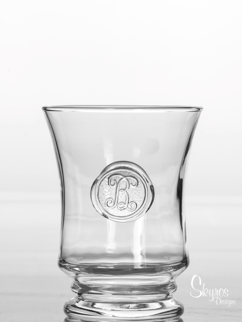 Skyros Designs  Legado Glass  DOF / Juice - Hand Stamped Initial $27.00