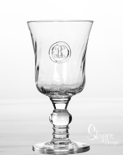$36.00 Footed Goblet - Hand Stamped Initial