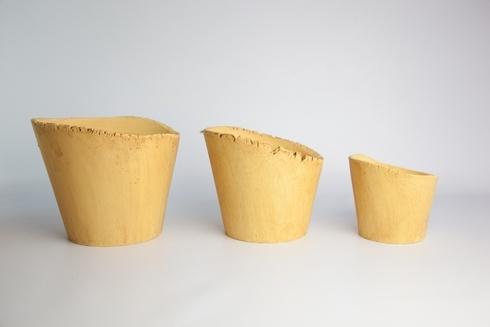Skyros Designs  Garden  - Canary Yellow Medium Planter $27.00